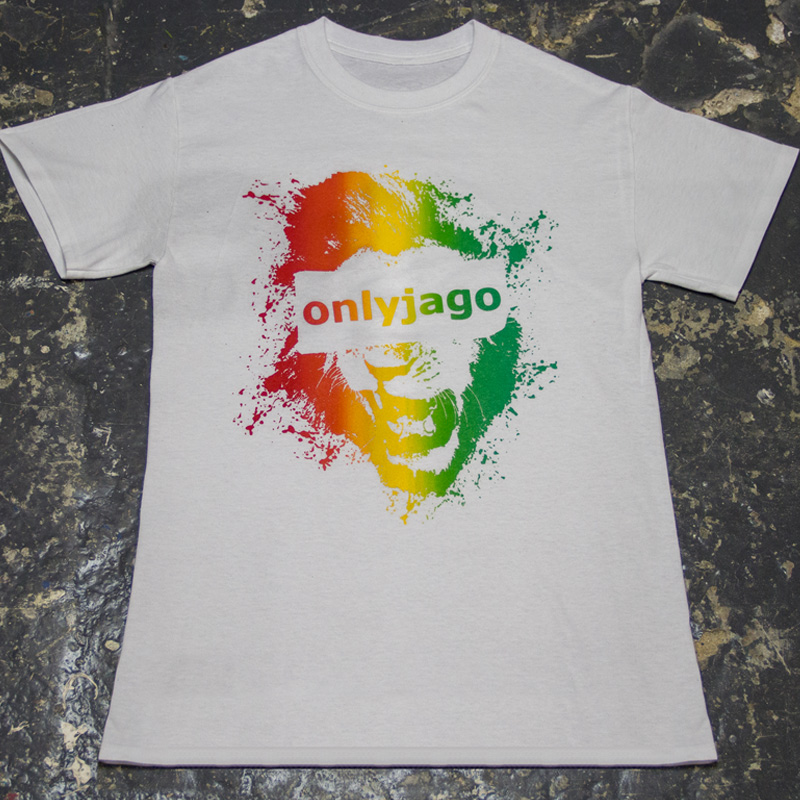 Onlyjago T Shirt Red Gold Green White Unit 137