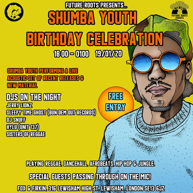 shumba youth birthday fox and firkin lewisham london