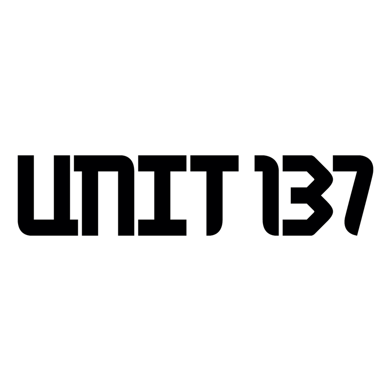 unit 137 logo black text