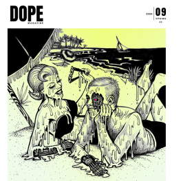 dope magazine issue 9 front cover dog section press